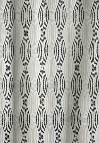 Spirella Nahla Sand-Black Textil Duschvorhang 240 x 180 cm.