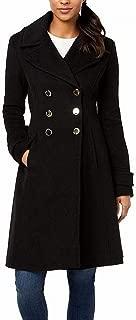 Ivanka Trump Womens Double Breasted Button Wool Jacket Flared Hem