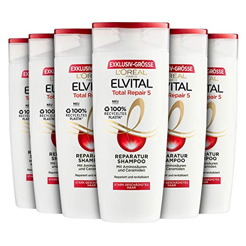 L'Oréal Paris Elvital Reparatur and Fülle Shampoo, 6er Pack (6 x 400 ml)