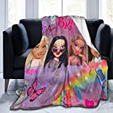 y2k Bratz Collage Soft and Comfortable Wool Fleece Throw Blankets Yoga Blanket Beach Blanket Suitable for Home and Tourist Camping