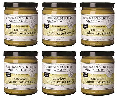 Terrapin Ridge Farms Smokey Onion Gourmet Mustard – Six 8.5 Ounce Jars