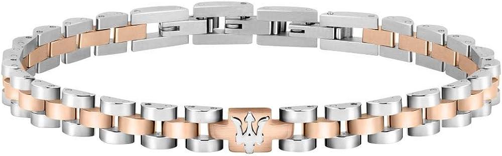 Maserati collezione jewels bracciale da uomo in acciaio 8033288862376