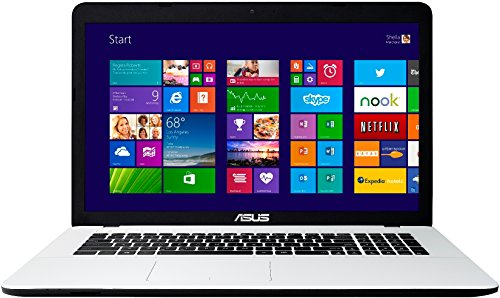 Asus F751MA-TY199H 43,9 cm (17,3 Zoll) Laptop (Intel Pentium N3540, 2,1GHz, 8GB RAM, 1TB HDD, Intel HD, Win 8) weiß