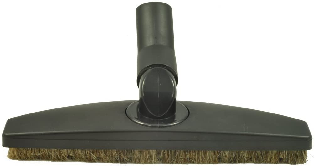 """Floor Brush for Miele Canister Vacuum Cleaner Floor Tool Attachment. 35MM Spring Elbow - Side to Side Rotation - Up Down Swivel - Black 12"""" Wide - Horsehair Bristles : Home & Kitchen"""
