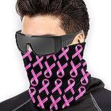 FunnyStar Bufanda unisex multifuncional para el cuello para actividades al aire libre, deporte, esquí, vestimenta de máscara, lazo rosa, concienciación sobre el cáncer de mama 2