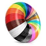 i3dpen 3D Pen Filament Refills - Premium Set of 21 Colors 689 feet Bonus 300 Stencils e-Book Including 6 Glow in The Dark Best 1.75mm PLA Filament Pack for 3D Pens
