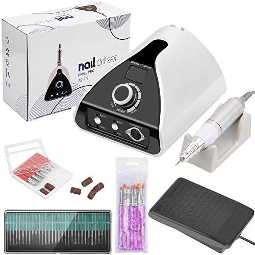 WloveTravel Elektrische Nagelfräser,Elektro Maniküre und Pediküre Set Professionelle Elektro Maniküre Set Nagelfeile