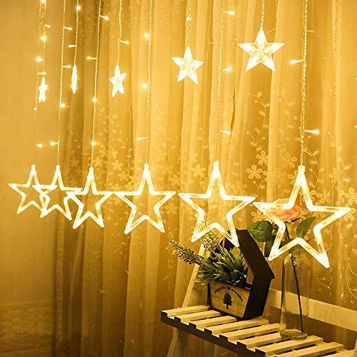 CHHD LED Sterne Weihnachtsbeleuchtung, LED Hängende Vorhangschnur Netz Home Party Home Decor Ornamente Geschenke (Multicolor)