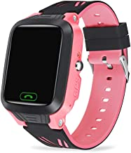 WEINXIN Children's Phone Watch Positioning Girl Boy SOS Remote Control Alarm Care Call Parental Control Watch with Classroom Mode Fitness Tracker Child Teen IP67 Waterproof (Color : Pink)