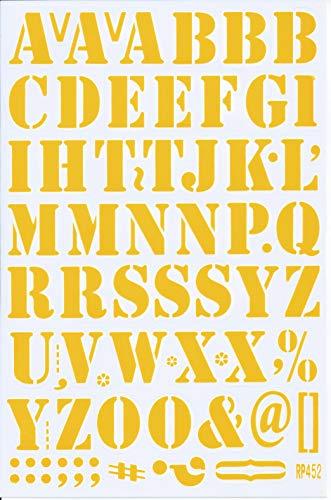 (シャシャン)XIAXIN 防水 PVC製 アルファベット ナンバー ステッカー セット 耐候 耐水 ローマ字 数字 キャラクター 表札 スーツケース ネームプレート ロッカー 屋内外 兼用 TS-518 (イエロー, 1点)