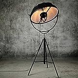 WEI-LUONG Moderna Fortuny Adornos Lámpara de pie Ajustable Forma satélite Estudio de Luz Salón Fotografía de luz de la lámpara de Metal Suelo Clásico (Lampshade Color : Black)