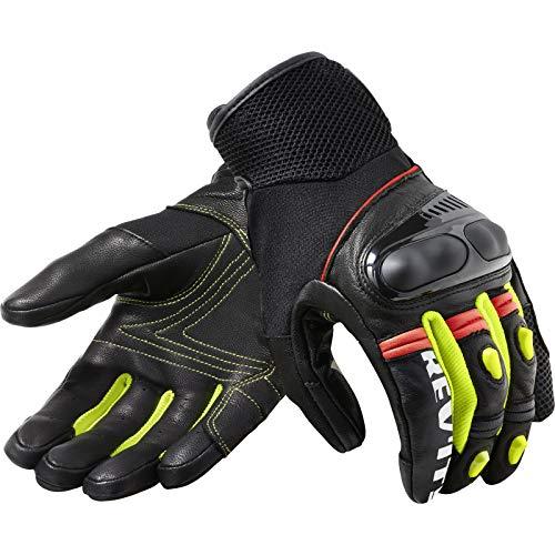 FGS171-1450-3XL Rev It - Guantes de moto métricos, 3XL, color negro y amarillo neón