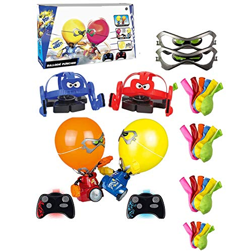 Sllnkll Robo Kombat Balloon Puncher,Remote Control Boxing Robot,Blasting Balloon Battle Toy,Family Interactive Game, Kids Gift.(Manual)