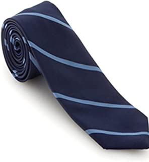 Navy with Sky Blue Stripes Executive Best of Class Extra Long Tie