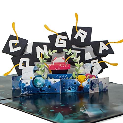 Ribbli Graduation 3D Pop Up Card,Greeting Card,Congrats Grad Card, For Graduation,High School...