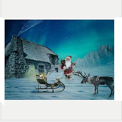 Diy 5D Diamante Pintura Nieve Noche Cabaña Ver Taladro Completo Diamantes De Imitación Redondos Punto…