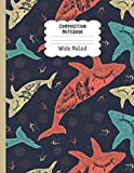 Composition Notebook Wide Ruled: Funny Whale Notebook   Cute Wide Ruled Journal for school, college, take notes   For teens, students, teachers, ... Gift or Birthday Present for Adults and Kids