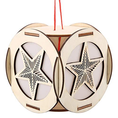 Linternas caladas de Hakeeta, linternas caladas de tallado en madera, luces nocturnas, nudos chinos, colores chinos fuertes, para decoraciones festivas para agregar un ambiente festivo.