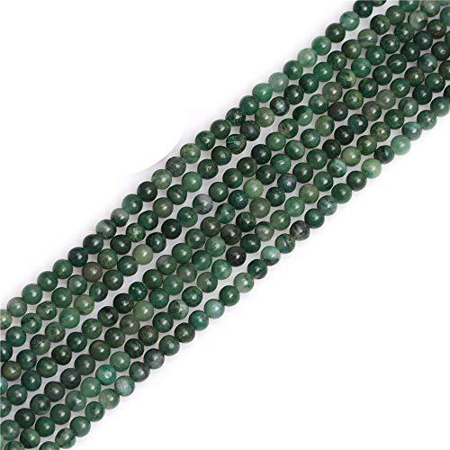 JOE FOREMAN 4mm Round Africa Jade Jadeite Beads for Jewelry Making Natural Gemstone Semi Precious Green 15'