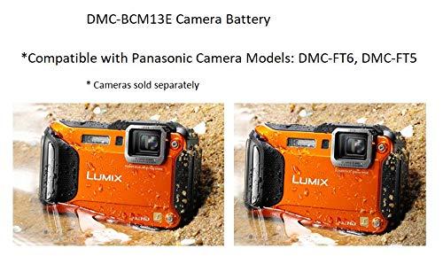 Panasonic LUMIX DMW-BCM13E Li-Ion Akku (geeignet für LUMIX TZ- und FT-Modelle) schwarz