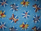 Fat Quarter Disney 's Pooh, Tigger, Eeyore & Piglet wirbelt