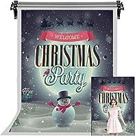 フェスティバルパーティーの写真の背景のHDクリスマスの背景雪だるまの背景写真スタジオの小道具屋内装飾5X7ftFSGY116