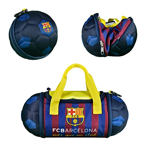 """Official FC Barcelona Collapsible Insulated Soccer Ball Lunch Bag, 13.4"""" x 5.75"""" x 5.75"""""""