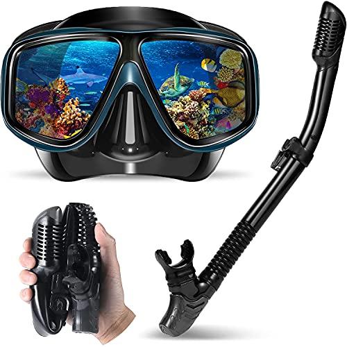 Yerloa Snorkel Set for Adults, Anti-Fog Scuba Diving Mask,Easy Breathing...