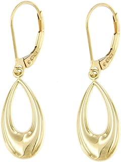 forme di Lucchetta per Donna - Orecchini Goccia in Oro Giallo 14 carati con monachella - Made in Italy Certificato, BR6669-MN