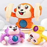 divine man Educational Musical Monkey Toy - Baby Musical Toy - Light Up Toy - Crib Music Toy for Babies and Toddlers - Toy Keyboard for Toddlers - Toys for 2 Year Boys and Girls -Monkey