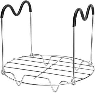 Steamer Rack Trivet with Heat Resistant Handles Compatible with Instant Pot Accessories 6 Qt 8 Quart, Stainless Steam Rack Pressure Cooker Trivet - Long Handles for Easy Chicken & Pot Removal