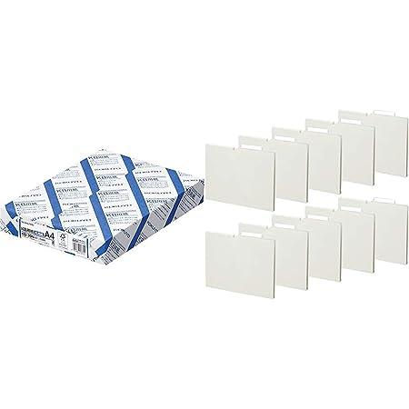 コクヨ コピー用紙 A4 500枚 + 個別フォルダー 10冊 セット KB-39N A4P-NEF15WX10