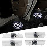 Nissan Maxima Accessory Lighting - 4PCS Aukur Logo Projector Car Door LED Lighting Entry Projector for Nissan