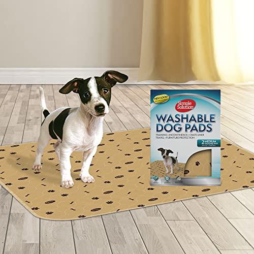 Solution Simple Lavable Dressage et Travel Dog Pads, réutilisable, Absorbant et contrôlant Les odeurs Moyenne 76cm x 81cm - Paquet de 2