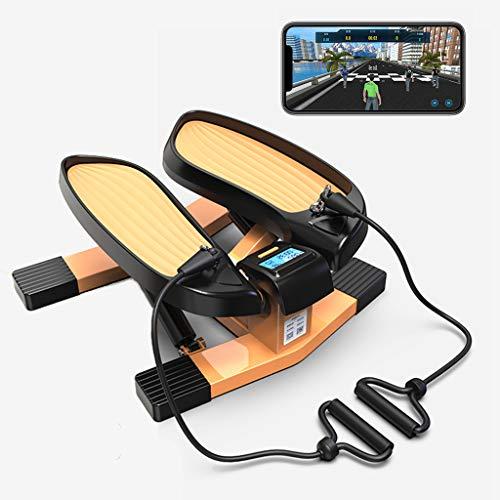 Mini ellittica Cross Trainer-Gioco competitivo App Intelligente, Stepper Due in Uno con Corda di Tensione, Morbidi Cuscinetti Antiscivolo e Design del Cuscino Anti-Shock per prevenire lesioni al Gin