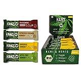 HANS® Bio-Energieriegel Original mit Hanf&Honig 18x30g Box | Natural Powerriegel | Magnesium Fitnessriegel extra für Sport, Radsport, Power&Energy