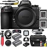 Nikon Z6 Mirrorless Digital Camera (Body Only) (1595) with Nikon FTZ Lens Mount Adapter, Nikon Bag, Nikon MC-DC2 Remote, 2 Sony 64GB XQD Memory Cards, Extra Battery, Led Light and More (Renewed)