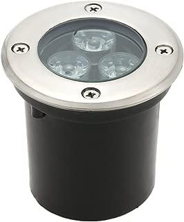 Tomshine 5W AC/DC 12V 埋め込み式LED スポットライト 550LMハイパワー 強化ガラス IP67防水対応  ガーデンライト 玄関先 屋外照明 遊歩道 (3W, 2800-3500K)