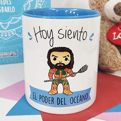 La Mente es Maravillosa - Taza con Frase y dibujo. Regalo original y gracioso (Hoy un Iron-café y a salvar el mundo) Taza Película Iron Man