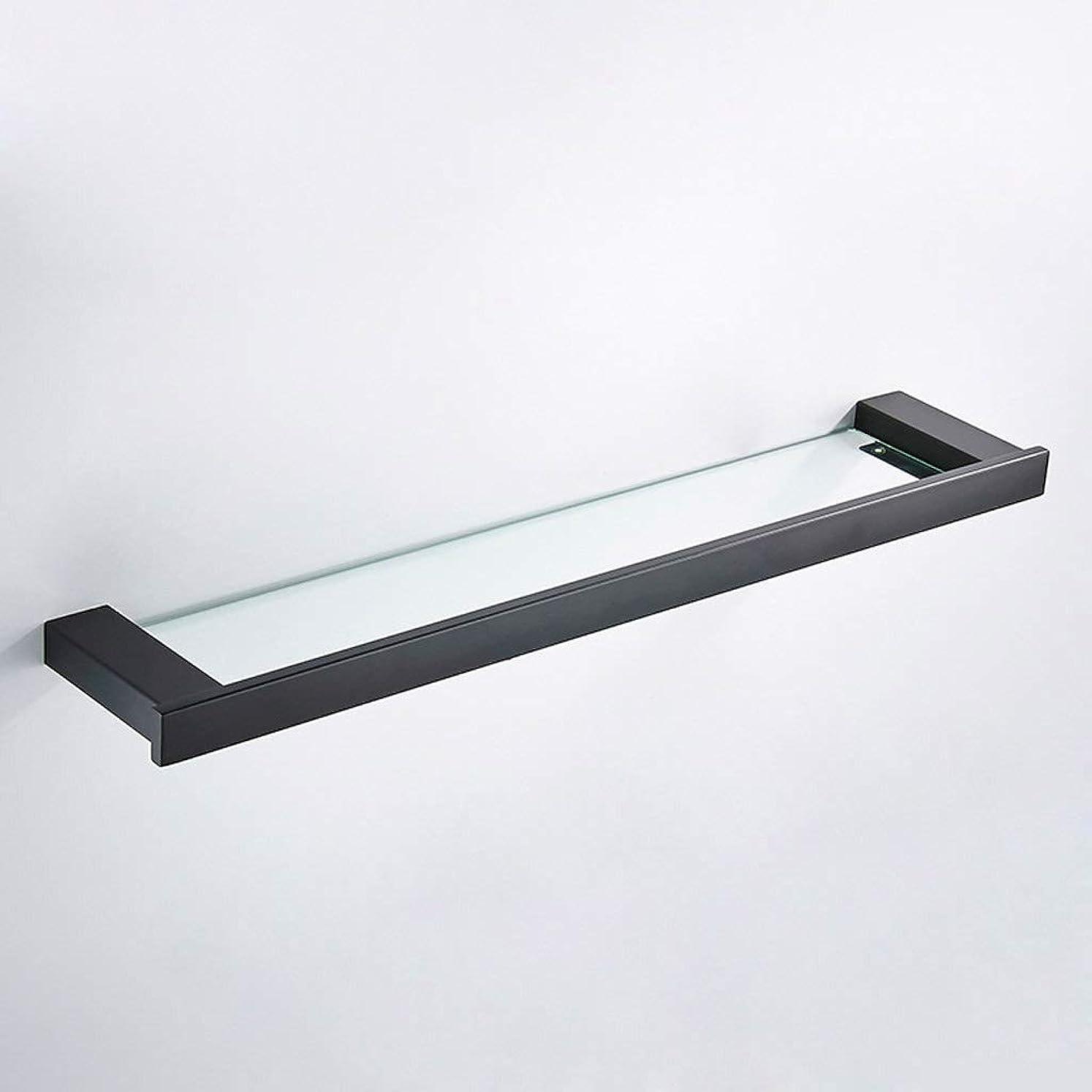 刺します配管工未使用ブラシをかけられた金のステンレス鋼304+のガラス棚の浴室の黒のドレッシングテーブル
