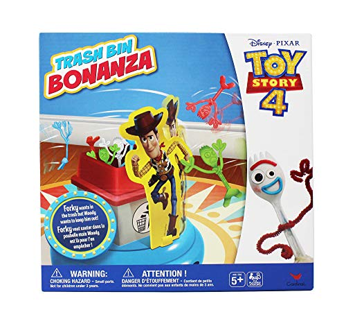Disney Pixar Toy Story 4 Trash Bin Bonanza Game with Woody and Forky