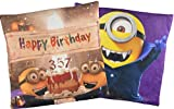 Minions Cojn de Doble Cara Happy Birthday Drcula/Minion Vampiro 40x 40cm