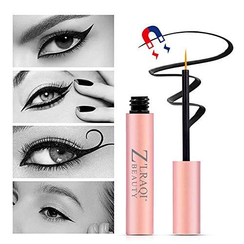 2 PACK Magnétique Liquide Eyeliner Imperméable À L'eau Longue Durée Eyeliner Faux Cils Colle Magnétique Cils Kit Ne Contient Pas De Faux Cils 4ML
