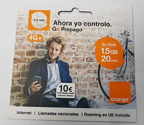 Tarjeta SIM Orange - Tarifa Go Walk - 10€ de saldo incluido