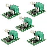 HiLetgo 5個セットPAM8403 ミニ 5V デジタル アンプ基板 USB 電源 オーディオ アンプ [並行輸入品]