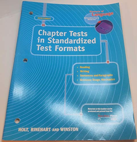 Elements of Language, Introductory Course, Chapter Tests in Standardized Test Formats