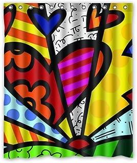 Romero Britto Custom Decor Window Curtain 50