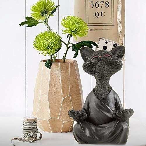 Reooly Gartenstatuen Deko Meditative dekorative Skulptur,Handarbeit Tiere Gartenfigur,Elf Gartendeko Outdoor Garten Hinterhof Rasen Yard Dekor, Polyresin Art Dekoration