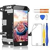 Yodoit Para iPhone SE 2020 reemplazo de pantalla negro, pantalla LCD de 4.7 pulgadas con kit de herramientas de reparación, compatible con modelo A2275, A2298, A2296