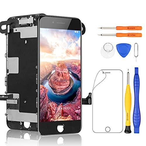Yodoit Completo Display per iPhone SE 2020 Schermo di Ricambio LCD Nero 4,7 Pollici, Vetro Schermo Parti di Ricambio + Set Cacciaviti